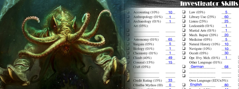 TiSB 102 Call of Cthulhu